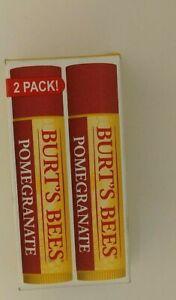 Burt's Bees Replenishing Lip Balm WITH POMERGRANATE  2-PACK NEW
