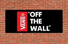 Vans Shoes Skateboard Pvc Vinyl Plastic Banner 2x5ft wall Flag Garage or Mancave