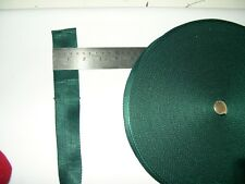 webbing dark emerald green 1 .5 inch sold by the metre