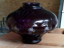 MCM SWAG Shade NOS Closed Factory Find Amethyst Floral Decorated #2