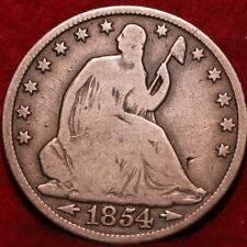 1854-O New Orleans Mint Silver Seated Half Dollar