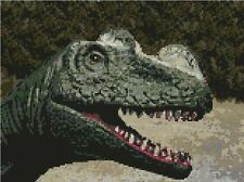 "Dinosauro contato CROSS STITCH KIT 11 ""X 8.25"" 28 cm x 21 cm Jurassic D2368"
