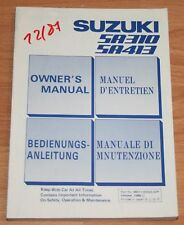 Suzuki Swift    Betriebsanleitung  Bedienungsanleitung SA 310 SA 413 86/87