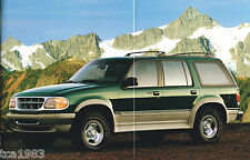 1995 Ford EXPLORER Brochure / Catalog w/ Color Chart: Eddie Bauer, Limited, XLT,