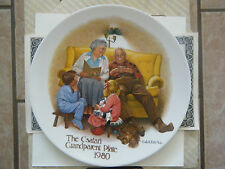 """The Bedtime Story"" 1st issue Csatari Grandparent Series- Knowles Plate-Box&Coa"