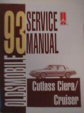 1993 Oldsmobile Cutlass Ciera Shop Service Manual 93