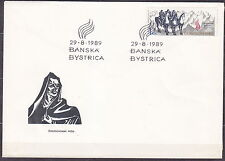 CZECHOSLOVAKIA 1989 FDC SC#2753 Slovak Uprising, 45th Anniv.
