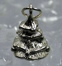 LOOK New 3D Christmas Tree Charm Real Sterling Silver .925 evergreen Jewelry pen