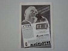 advertising Pubblicità 1939 RADIO MAGNADYNE SV 56