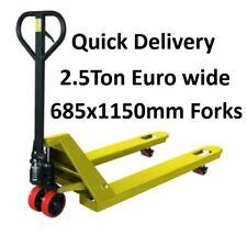 2500kg Hand Pallet Truck Euro Wide 685x1150mm Forks Fully Assembled