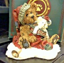 BOYDS 1998 CHRISTMAS BEARSTONE HONEY B ELFBERG WITH GABRIELLA...BELIEVE NEW