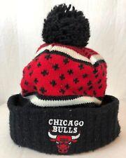Vintage Mitchell &  Ness Chicago Bulls Jordan 23 Beanie Pom Hat Winter Street