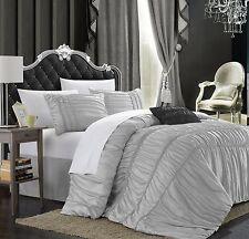 Chic Home Romantica 5-Piece Comforter Set King Silver New