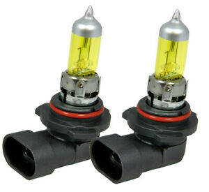 x2 9006 HB4 100W Xenon Halogen Light Bulbs Super Yellow Low Beam Fog Light J186