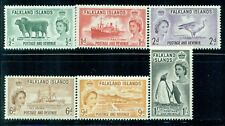 FALKLAND ISLANDS 122-27 SG187-92 MH 1955-57 QEII Defin set of 6 Cat$40