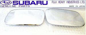 SUBARU OEM 95-00 GC8 Impreza WRX Sedan Coupe Wagon Side Door Mirror Lens Set