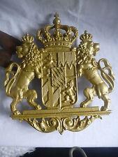 Wappen Königreich Bayern Siliziumguss goldlackiert top