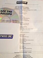 RADIO SHOW: OFF THE RECORD CLASSIC 8/16/08 CHEAP TRICK SPECIAL  w/10  INTERVIEWS