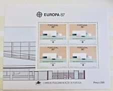 Timbre Stamp Portugal 1987 YT bloc feuille  BF 55 EUROPA CEPT Neuf