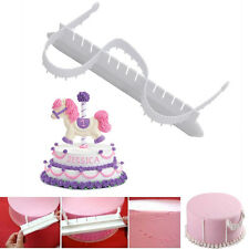 2pcs Plastic Frilling Gum Paste Frill Edge Mold Cake Decor Embosser Baking Tools