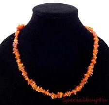 AB1 Nice Vintage Natural Amber Chip Necklace Strand Wear Repurpose