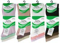 New Ladies Healthy non elasticated Top 100% Cotton Diabetic Elastic Socks 3pp