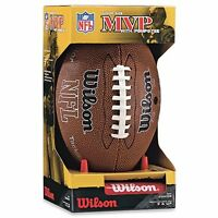 NEW Wilson NFL MVP Junior Football with Pump and Tee Brown FREE SHIPPING