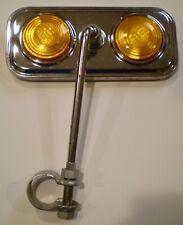 Vintage Bicycle Mirror Orange Reflectors Whizzer Schwinn Stingray Muscle Bike