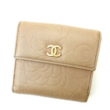 Auth Chanel W Hook Purse Camellia Women''s used J4630