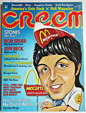 Creem magazine Aug 1976 Paul McCartney Stones Bob Seger Runaways Frampton poster