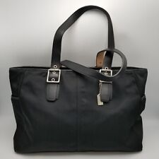 Coach Large Black Nylon Diaper Bag w Coa