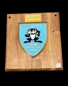 Scarce Tasmanian Police SOG plaque presented to the SASR