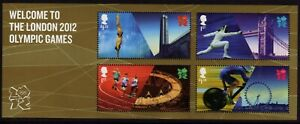 GB 2012 WELCOME TO LONDON OLYMPIC GAMES Mini Sheet MNH SG MS3341