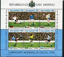 SAN MARINO 1990  BF FOGLIETTO CALCIO ITALIA 90  NUOVO GOMMA INTEGRA