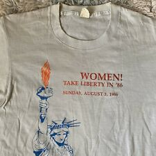 Women Take Liberty 80s L Vintage T Shirt Protest March ERA Equal Rights Feminist