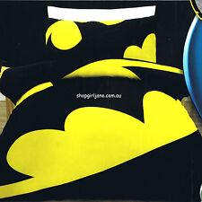 Batman - Large Logo - DC Comics - Queen Bed Quilt Doona Duvet Cover Set