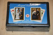 deux jeu de 54 cartes : Royal Celebration -Playing Fine Cards / Angleterre Diana