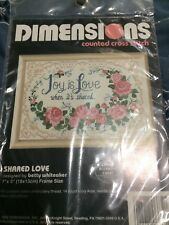 New counted cross stitch kit by Dimensions Shared Love #6632
