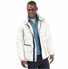 New NAUTICA WHITE HOODED ANORAK JACKET size L