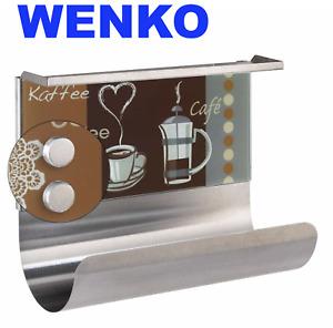 """Wenko Rollenhalter mit Ablage """"Kaffeeduft"""",magnetisch, mit Regalboard"""