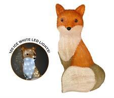 The Snowman Acrylic Fox Figure LED Lights Garden Christmas Xmas Decoration 54cm