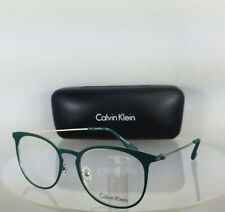 Brand New Authentic Calvin Klein Eyeglasses CK 5430 431 Green Silver Frame