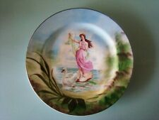 Assiette porcelaine Jean Pouyat J.P.L.Limoges France 1858 Sujet mythique 26,8 cm