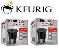 (2) GENUINE Keurig HOT 2.0 MY K-CUP Reusable Coffee Filter Brewer (Updated) OEM