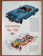 MAGAZINE AD ~ 1958 CORVETTE ~ SPORTS ILLUSTRATED ~ JANUARY 1958