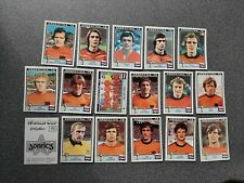 PANINI WORLD CUP STORY NEDERLAND - HOLLAND   WC 78 COMPLETE SET 17 STICKERS