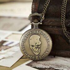 Bronze Death Note Men Women Pocket Skull Partten Antique Watch