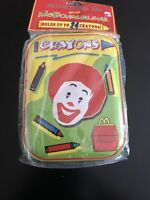 Vintage 1996 Ronald McDonald Tin Box Crayon Holder New McDonaldland