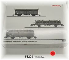 """MÄRKLIN 58229 Pista 1 bienes Wagenset """"Carga de madera"""" de DB"""