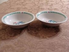 2 Serving Bowls Tabletops Unlimited Botanica Pattern Blue/Pink Iris